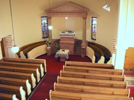 Pestújhely-Újpalotai  református templom belselye