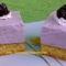Feketeszedres-túrós-sajtkrémes kocka