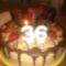 Csoki torta eperrel