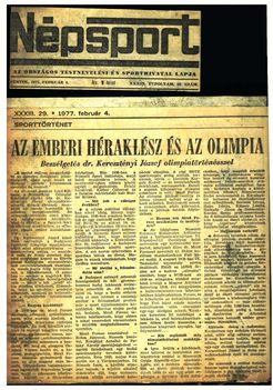 Népsport cikk