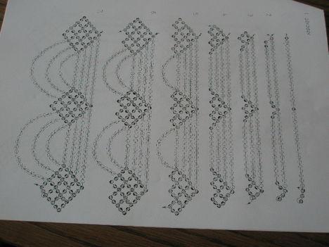 Sárközi gyöngygallér minta