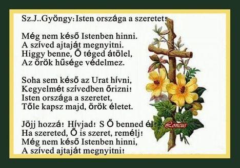 Isten országa a szeretet!Sz.J.Gyöngy