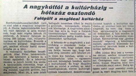 Maglócai kultúrház, Kisalföld, 1959.06.25. 1