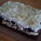Túrókrémes áfonyalekváros sütemény