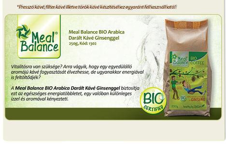 A Meal Balance BIO Arabica Darált Kávé Ginsenggel biztosítja ezt az egészséges energiatöbbletet, egy valóban különleges ízzel és aromával kényezteti.