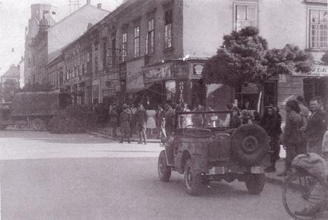 Győr bombázás után, belváros