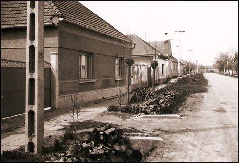 József Attila utca részlete 1983-ból