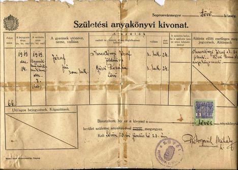 dr.Keresztényi József szül.akvi kivonat