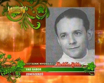 Vas Gábor 2002-ben a magyarnóta szerzője dij tulajdonosa lett