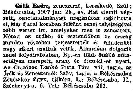 Gálik Endre