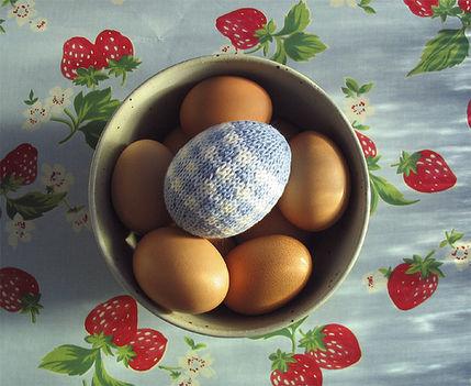 Kék tojásdísz