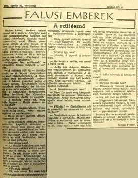 A szülésznő, Sopronkövesd. Kisalföld, 1960.04.24. 5