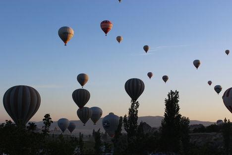 Kappadokia-Törökország ballonok
