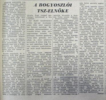 Bogyoszló tsz-elnöke, Kisalföld, 1961.02.16. 3
