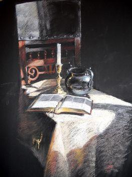 Csendélet bibliával