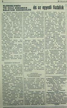 Egyedi fiatalok, Kisalföld, 1961.05.26. 4