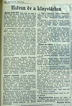 Hatvan év a könyvtárban, Szil, Kisalföld, 1961.03.05. 11