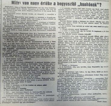 Bogyoszlói bunkó értéke. Kisalföld, 1960.12.15. 5