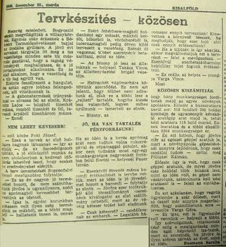 Bogyoszlói terv. Kisalföld, 1960.12.28. 5