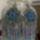 kék fülbevaló