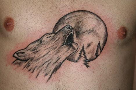 Tetoválás 12 Tetkó üvöltő farkas