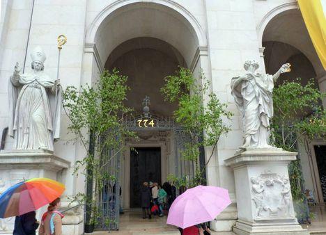 A salzburgi székesegyház bejárata