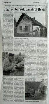 Padról, borról, bánatról Bezin, Kisalföld, 1999
