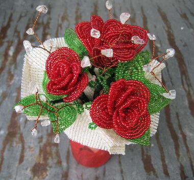 Rózsa csokor Eszternek