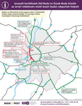 BKK - Budapesti közlekedési változások 2013. június 06-09-től (alsó rkp.-Bem utca-Fő utca lezárás miatt Pesten keresztül lehet eljutni Budára)_arviz_kerulo
