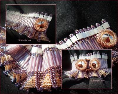 lila fodros romantikus karkötő