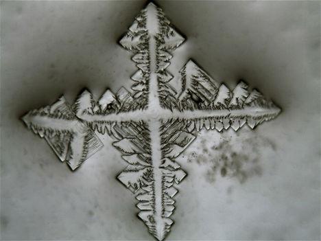 Só-cukor oldat kristálya