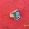kék ezüst gyűrű 001