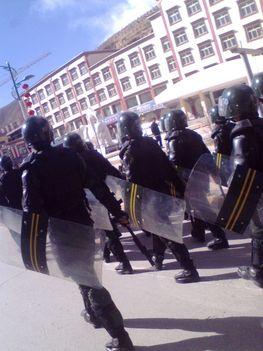kínai katonák tibetben