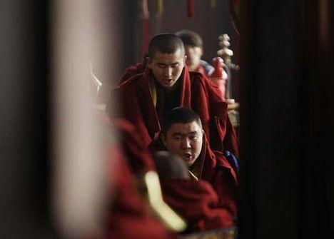 tibeti szerzetesek