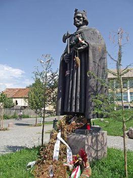 Csíkszépvíz Szent László szobor