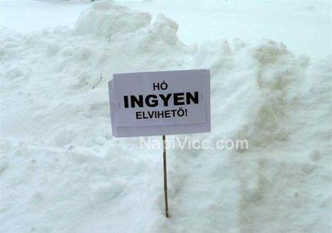 ingyen elvihető hó