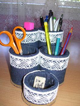 Ceruzatartó papírgurigákból