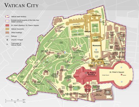 részletes nagyítható vatikáni térkép