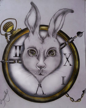 Rabbit with pocket watch