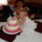 Viktória keresztelős tortájával