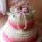 Viktória kis unokám keresztelős tortája