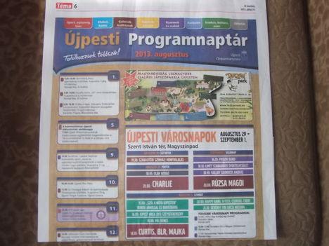 2013. Újpesti Városnapok. aug.29-30-31, és szept 1