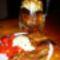 pácolt tarja, paradicsom salátával zellerpürével