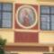 Szent István kép a kőszegi Városháza homlokzatán.