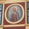 Szent István király kép a kőszegi Városháza homlokzatán.