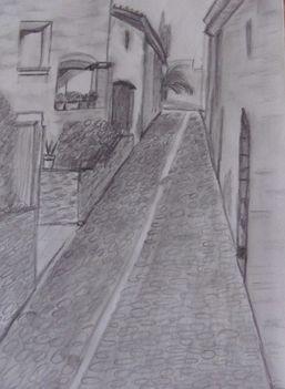 Tossa de Mar utca részlet