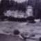 Csónakház a Duna parton az 1950-es évek vége felé.
