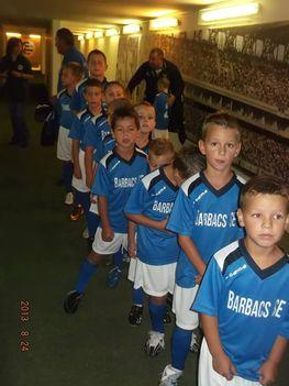 Kicsi focisták az ETO-meccsen 2