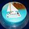 Vitorlás hajó torta