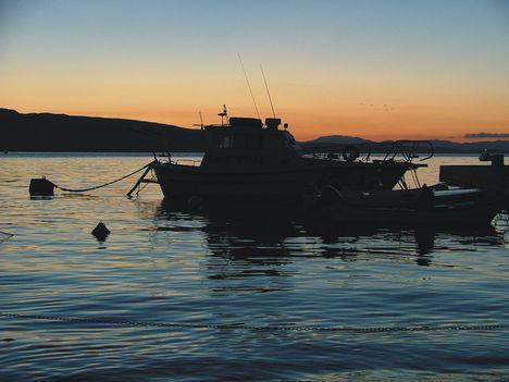 naplemente a Pag szigeten